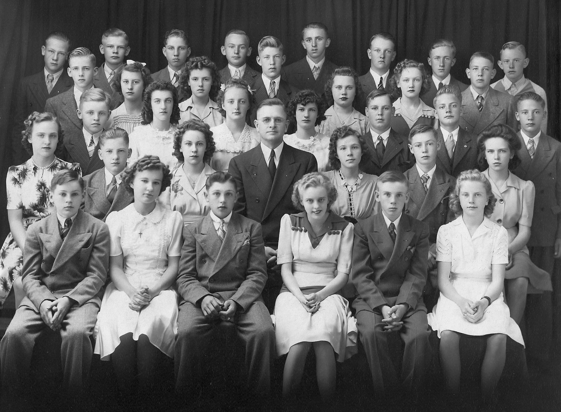 June's Confirmation Class of 1942