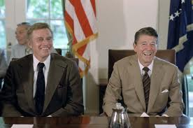 Reagan and Heston 1980's
