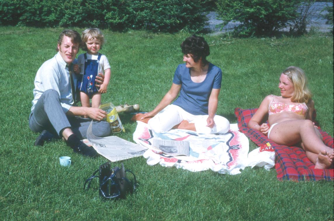 June with Ander's family in Oslo