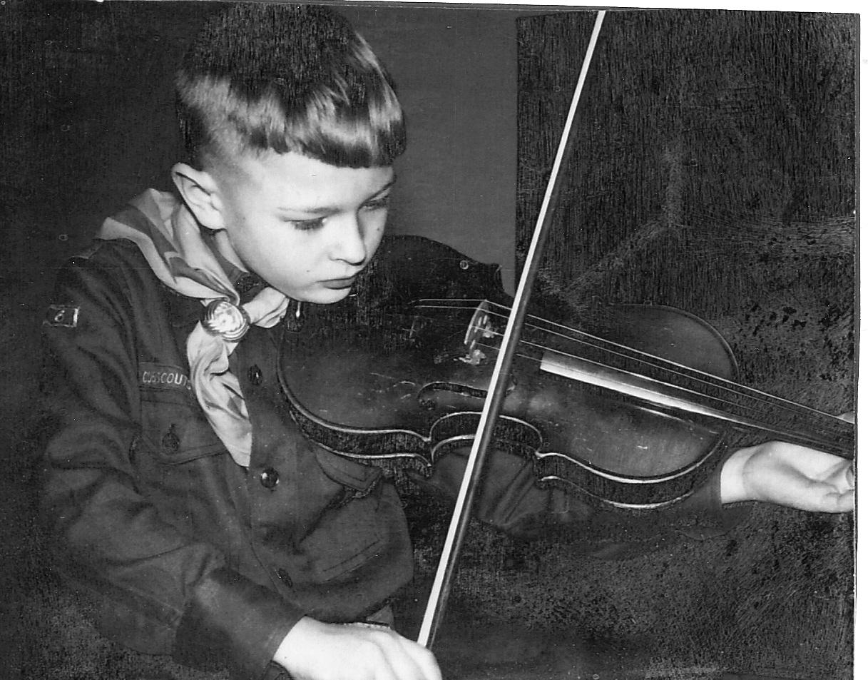 David Berg with Violin