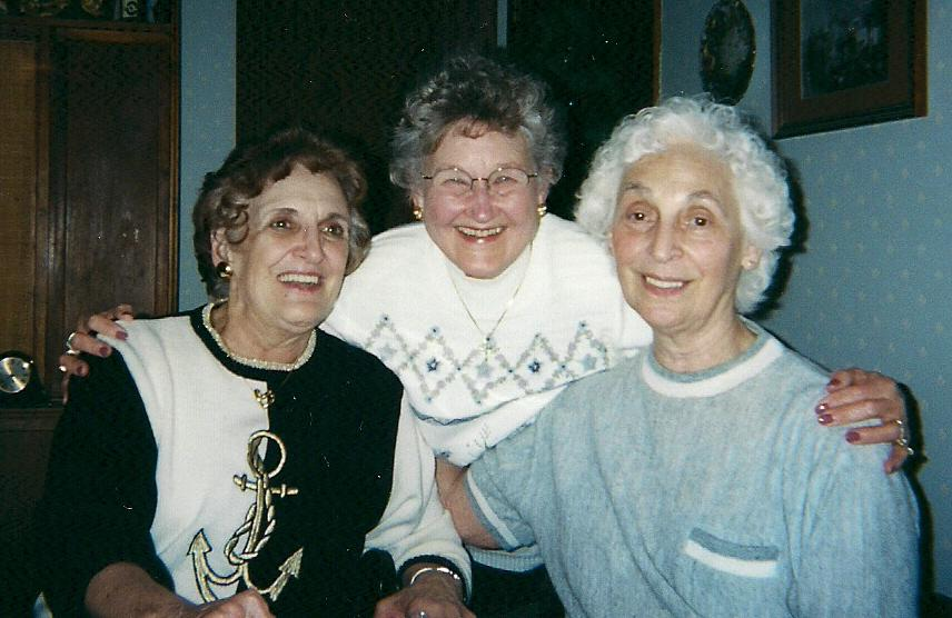 June and her friends March 2001