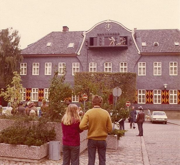 Goslar Town Hall Clock and figurines Sept. 1974