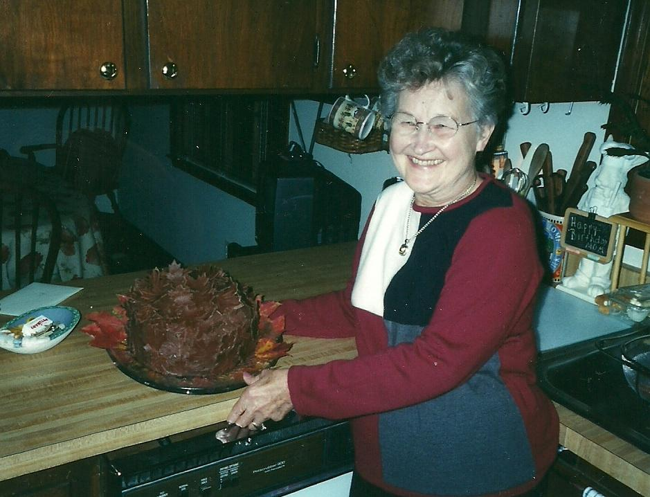 June Berg in Cary NC her birthday Nov 2001