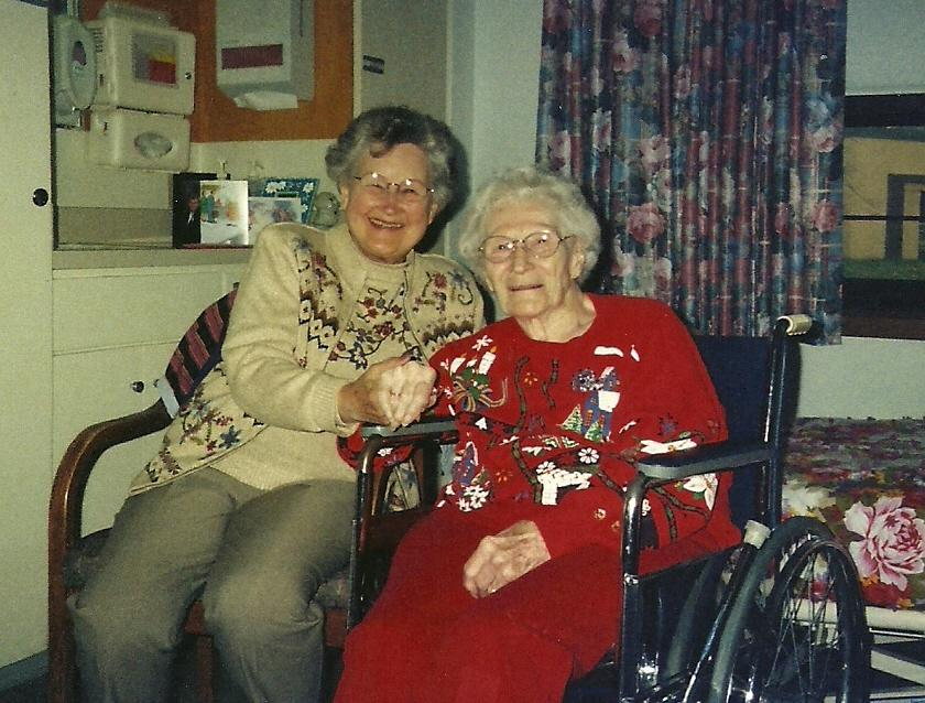 June and Ellen during Holidays's 2004