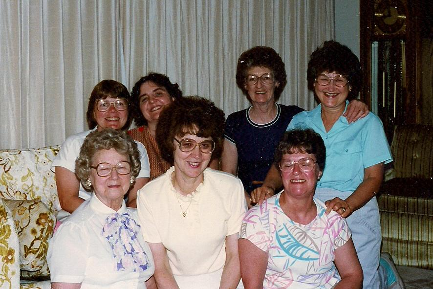 June Berg Hosting Ruth Circle meeting 1986