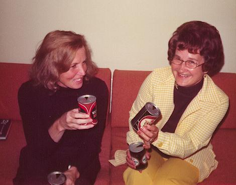 June with Joan Bruce September 1974