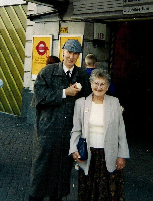 June with a Sherlock Holmes, London 1999