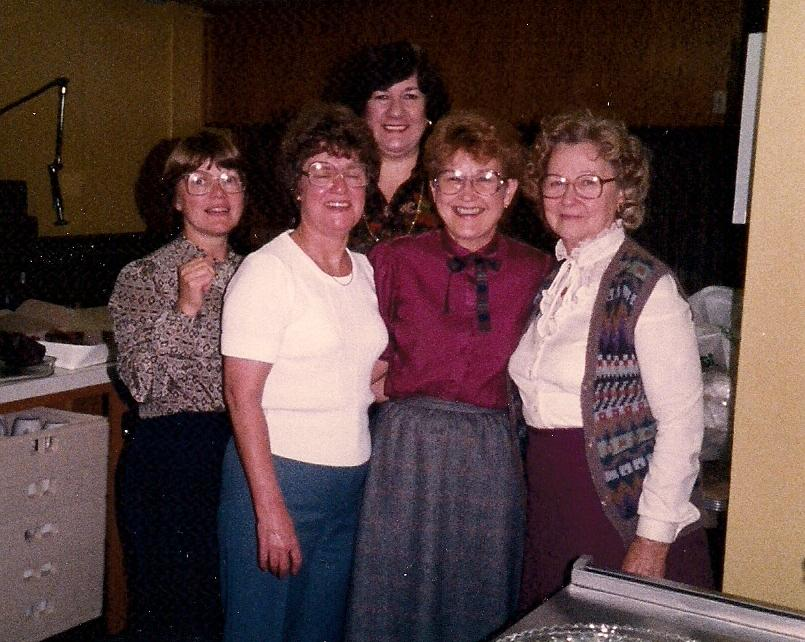 June Berg with Church Women 8 Nov 1984