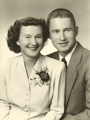 June and Stan's weddng picture